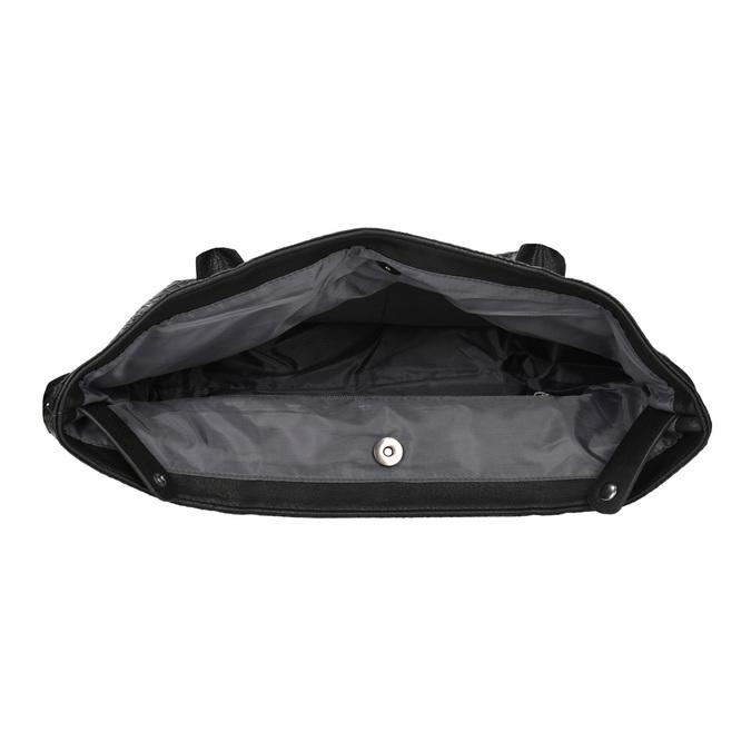 Dámská kabelka se strukturou gabor-bags, černá, 961-6053 - 15