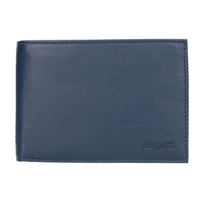 Modrá kožená peněženka bugatti-bags, modrá, 944-9051 - 26