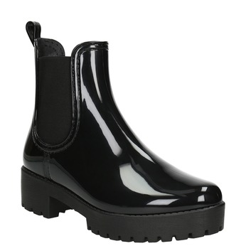 Lakované dámské holínky bata, černá, 592-6400 - 13