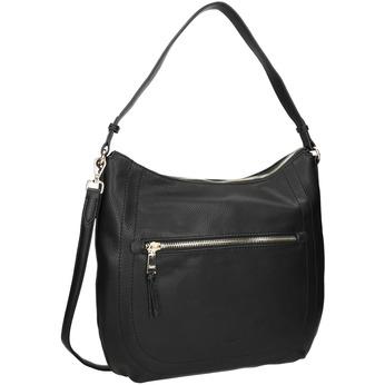 Černá dámská kabelka s popruhem gabor-bags, černá, 961-6061 - 13