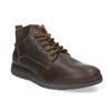 Pánská kožená kotníčková obuv s prošitím bata, hnědá, 846-4645 - 13