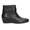 Kožená kotníčková obuv s přezkou comfit, černá, 696-4622 - 15
