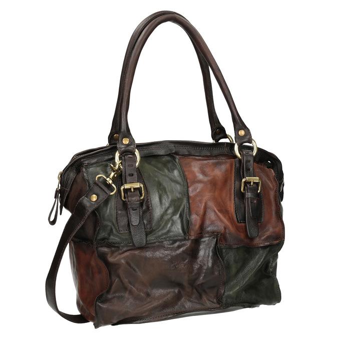 Kožená kabelka ve stylu Patchwork a-s-98, vícebarevné, 966-0062 - 13