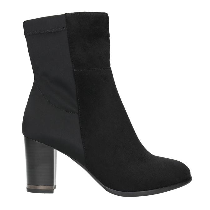 Kotníčkové kozačky na podpatku bata, černá, 699-6636 - 15