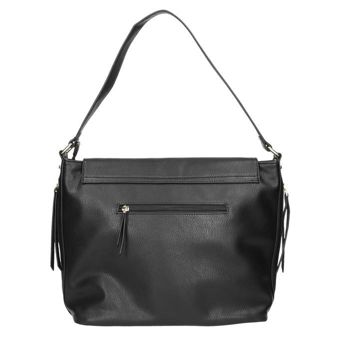 Černá kabelka s klopou bata, černá, 961-6751 - 26