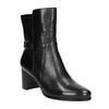 Kožené kotníčkové kozačky na podpatku bata, černá, 696-6648 - 13