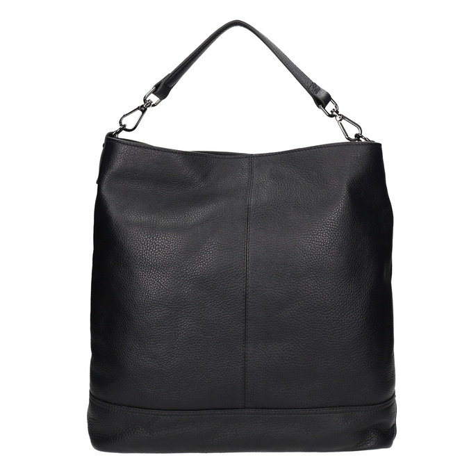 Kožená černá Hobo kabelka bata, černá, 964-6261 - 26