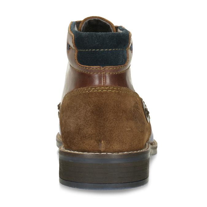 Pánská kožená kotníková obuv bata, hnědá, 826-3611 - 15