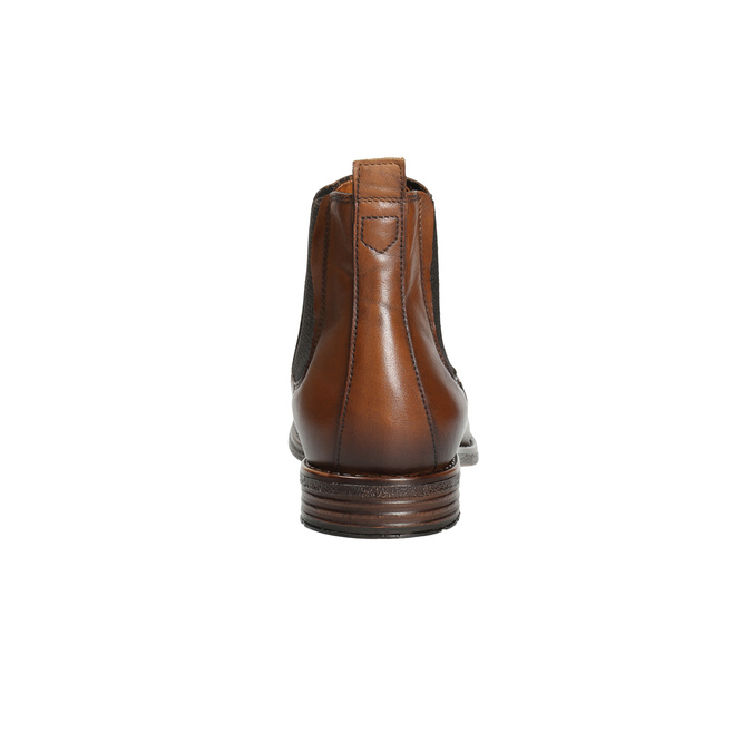 Hnědé kožené Chelsea Boots bata, hnědá, 896-3673 - 17