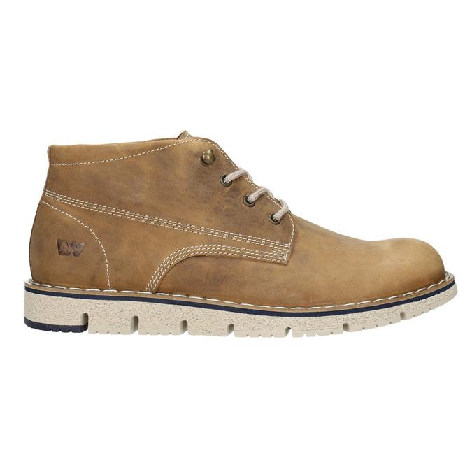 Hnědá pánská kožená kotníčková obuv weinbrenner, hnědá, 846-4658 - 26