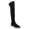 Kozačky nad kolena z broušené kůže bata, černá, 593-6605 - 13