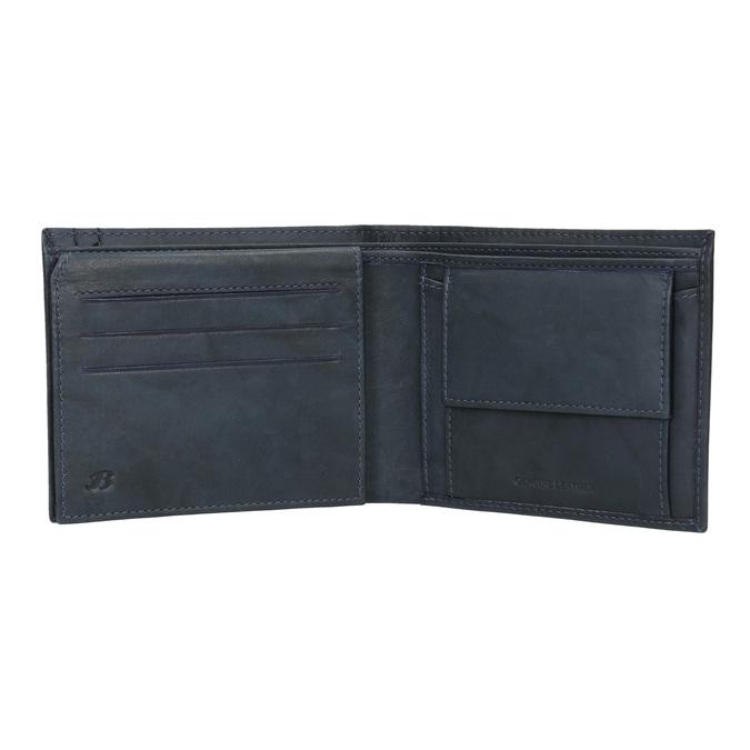 Pánská kožená peněženka modrá bata, modrá, 944-9183 - 16