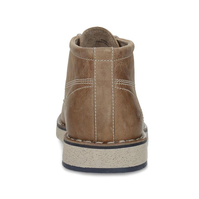 Hnědá pánská kožená kotníčková obuv weinbrenner, hnědá, 846-4658 - 15
