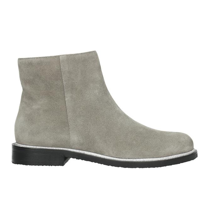Kotníčková obuv z broušené kůže bata, šedá, 593-2603 - 15