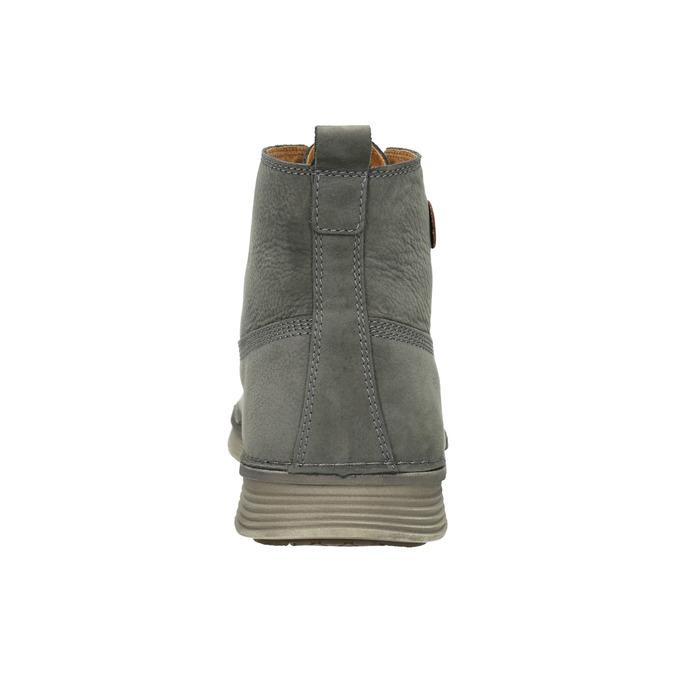 Kožená kotníčková obuv pánská weinbrenner, šedá, 846-2656 - 16