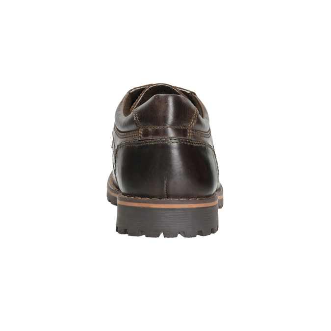 Kožené ležérní polobotky bata, hnědá, 826-4640 - 16