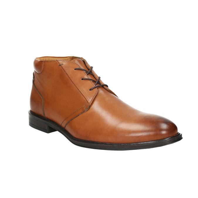 Pánská kožená Ombré obuv bata, hnědá, 826-3913 - 13