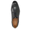 Kožené polobotky s modrým prošitím bata, černá, 826-6915 - 26