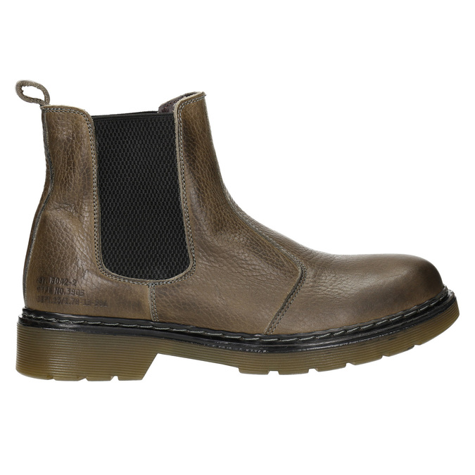 Dámská kožená Chelsea obuv bata, hnědá, 596-7680 - 26