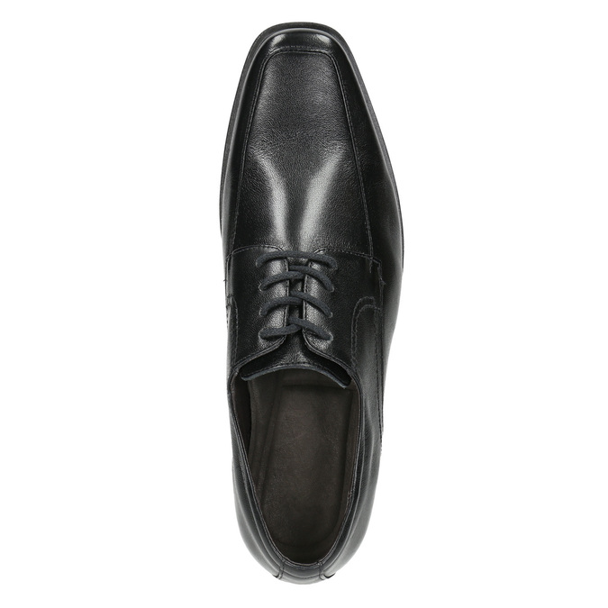 Černé kožené polobotky bata, černá, 824-6600 - 26