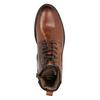 Kožená kotníčková obuv bata, hnědá, 896-3675 - 15