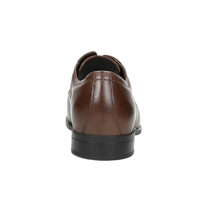Hnědé kožené polobotky bata, hnědá, 824-4600 - 17