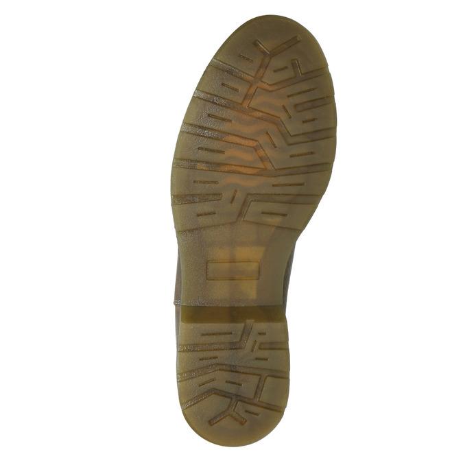 Dámská kožená Chelsea obuv bata, hnědá, 596-7680 - 17