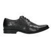 Černé kožené polobotky bata, černá, 824-6600 - 15