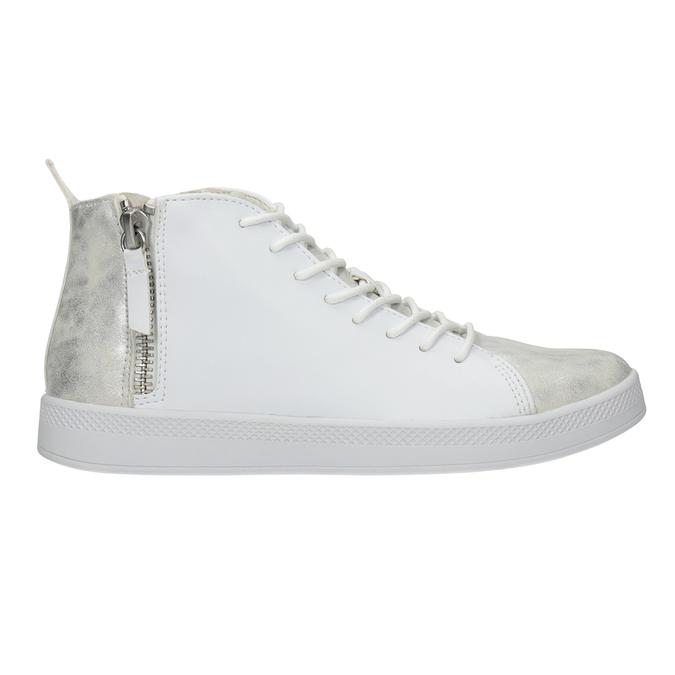 Bílé kotníčkové tenisky, bílá, 501-1172 - 26