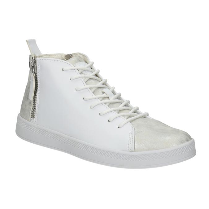 Bílé kotníčkové tenisky, bílá, 501-1172 - 13