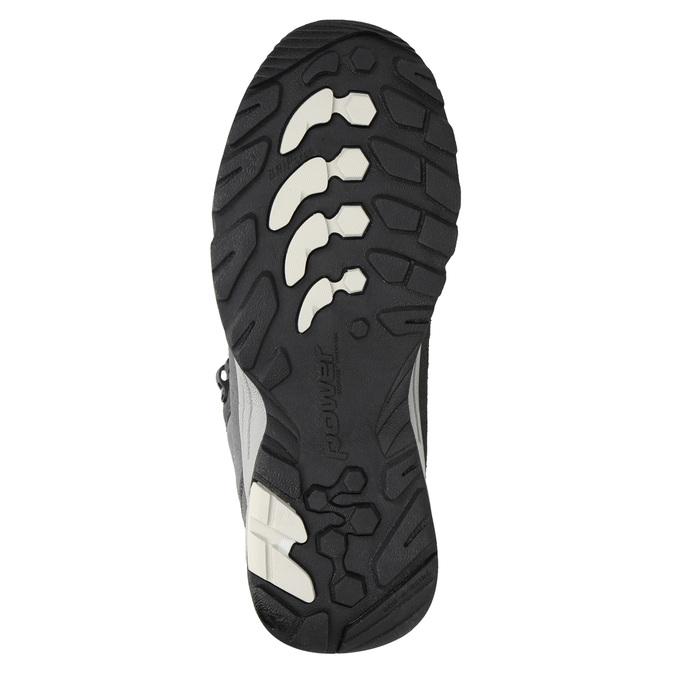 Kožená kotníčková obuv v Outdoor stylu power, šedá, 503-2232 - 17
