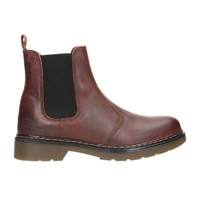 Kožená dámská Chelsea obuv bata, hnědá, 596-3680 - 26