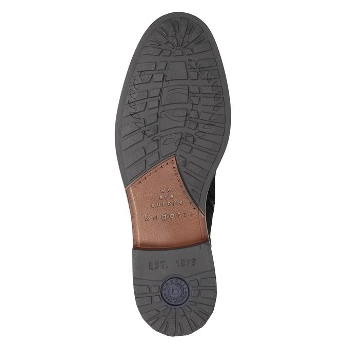 Kožená kotníčková obuv pánská bugatti, černá, 816-6044 - 17