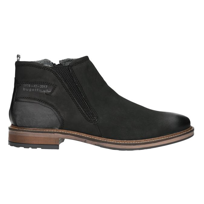Kožená kotníčková obuv pánská bugatti, černá, 816-6044 - 26