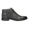 Kožená kotníčková obuv se strukturou bata, šedá, 826-2616 - 15
