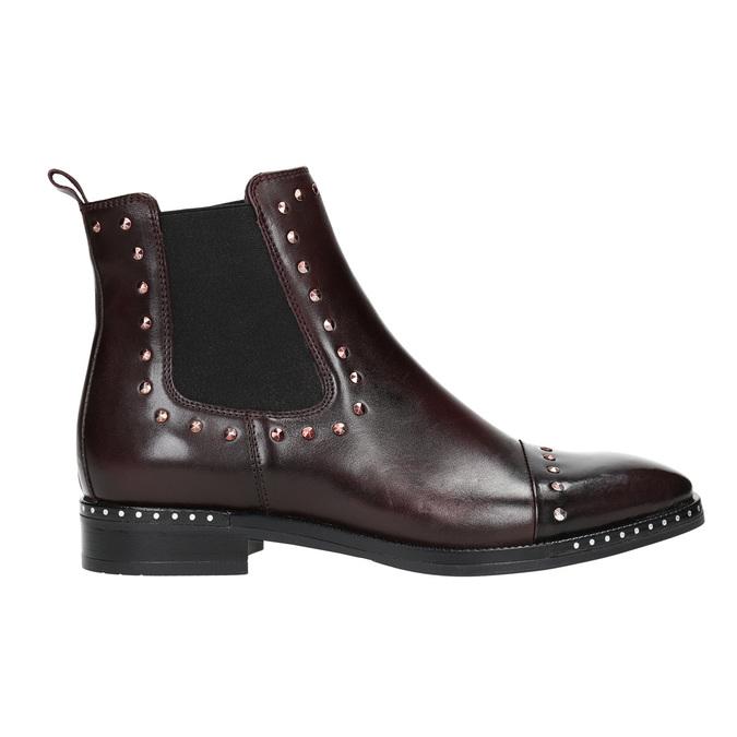Kožená dámská Chelsea obuv bata, červená, 596-5679 - 15