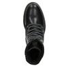 Kožená dámská kotníčková obuv bata, černá, 594-6681 - 15
