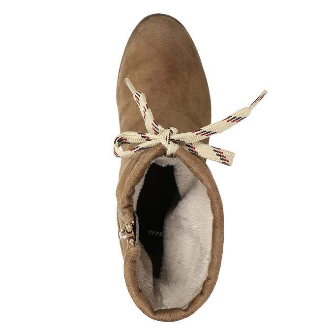 Hnědé kozačky na podpatku bata, hnědá, 799-3613 - 26