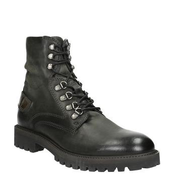 Kotníčková kožená obuv bata, šedá, 896-2663 - 13