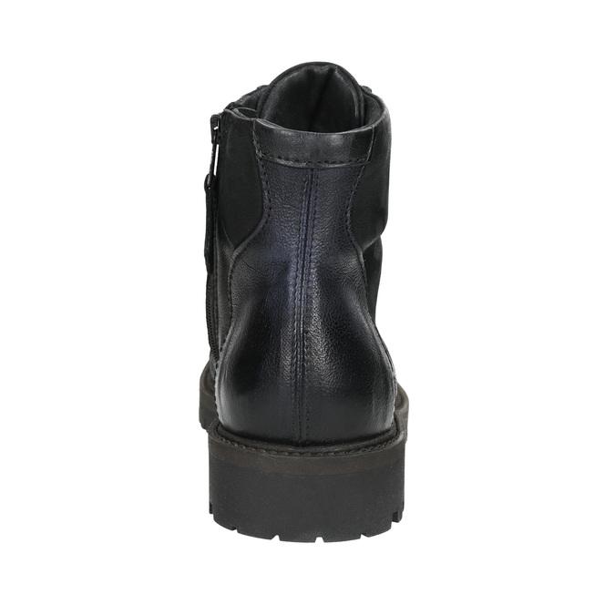 Pánská kotníčková obuv bata, černá, 896-6664 - 17