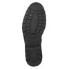 Kožená kotníčková obuv s prošitím na špici ten-points, černá, 896-6029 - 17