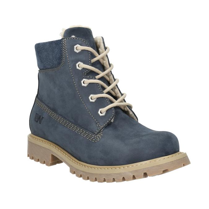 Dětská zimní obuv s kožíškem weinbrenner-junior, modrá, 416-9600 - 13