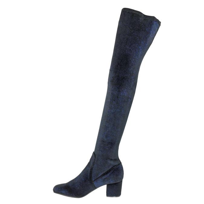 Dámské kozačky nad kolena modré steve-madden, modrá, 719-9024 - 15