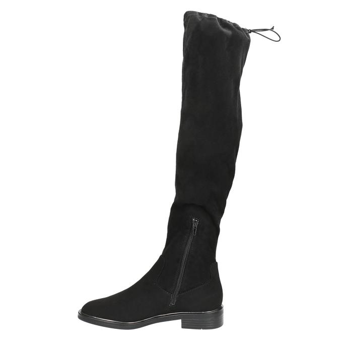 Dámské kozačky nad kolena bata, černá, 599-6616 - 26