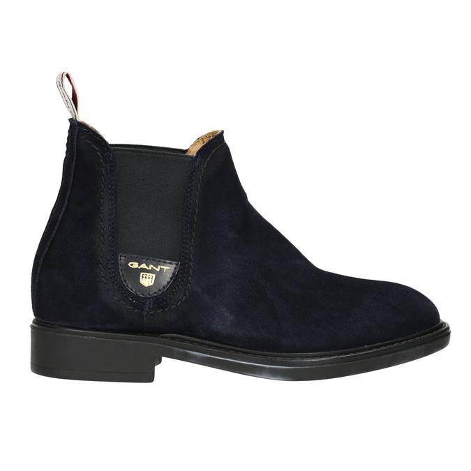 Dámská kožená Chelsea obuv gant, modrá, 513-9086 - 15