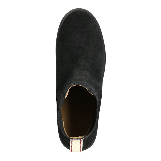 Dámská kožená kotníčková obuv gant, černá, 513-6062 - 26