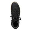 Kožená kotníčková obuv se šněrováním bata, černá, 596-6673 - 15