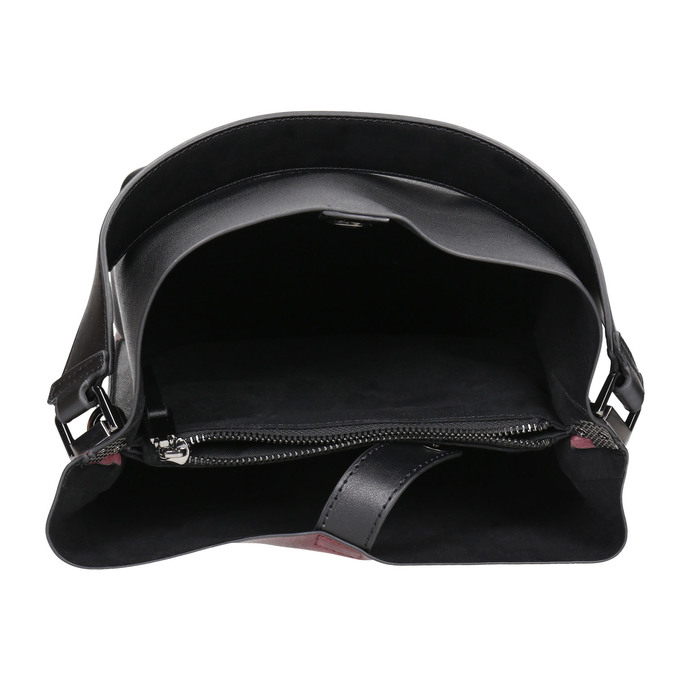 Dámská dvoubarevná kabelka bata, černá, 961-6173 - 15
