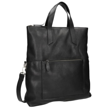 Černá kožená kabelka bata, černá, 964-6280 - 13