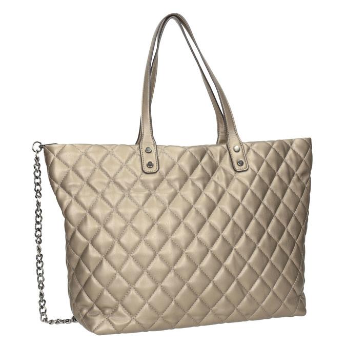 Prošívaná dámská kabelka bata, hnědá, 961-4139 - 13